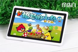 Compra Online 3g usb libre-A33 Q88 cuádruple núcleo 7 pulgadas de ancho placa Zhiping PC Android4.4 doble cámara de 4GB512MB pantalla capacitiva WIFI versión envío gratuito