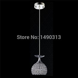 Wholesale 110V V CE And FCC Quality Mini Pendant Crystal Modern Light D15cm With Light For Bar Table Height Adjustable