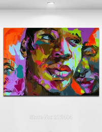 Sexy Lip Handmade Oil Painting On Canvas Palette Knife Figure Cool Man Picture Home Living Wall Decor