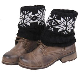 Wholesale-2015 New Christmas Knit Leg Warmers For Women Boot Cuffs Winter Boot Socks Contrast Color Short Boot Covers Ladies Boot Toppers