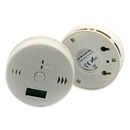 Wholesale LCD screen Carbon Monoxide Detector and Carbon Monoxide Alarm CO Detector and CO Alarm Sensor white directly from factory with warranty