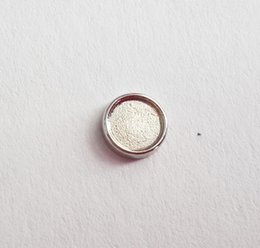 5mm Inner 6mm Outside Silver Blank Circle Setting Floating Charms Fit Your Lockets DIY Photo Charms for Making Jewelry