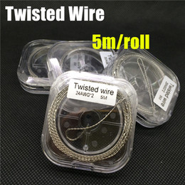 Twisted Wire Resistance heating twist Wire 24 26 28 30 32awg Gauge 5m per spool clapton Wire for RDA DIY mod vaporizer