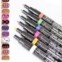 16 Colors Nail Art Pen for 3D Nail Art DIY Decoration Nail Polish Pen Set 3D Design Nail Beauty Tools Paint Pens QJ
