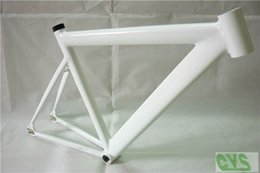 Wholesale Classic LB725 Pearl White Fixed Gear Bicycle Frame Aluminium Alloy KG smooth welding Bike Parts