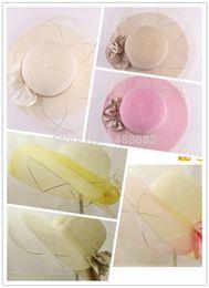 Wholesale Ms summer hollow out of bud silk net cap air big wedding hat along the sun sun hat
