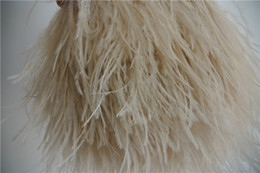Free shipping 10yards lot ivory taupe light taupe ostrich feather fringe trimming ostrich feather trim for weddings decor costumes crafts