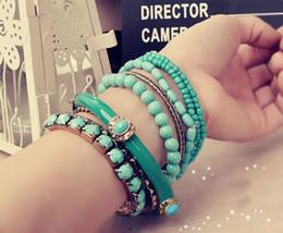 2016 New Arrival Vintage Turkish Bracelets Jewelry Resin Bracelets Brand Fashion Summer Style Bracelets Multicolor Optional