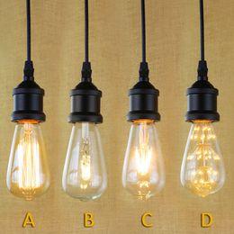 Wholesale Black Pendant Lighting Industrial Edison Mini Pendant Hanging lamp Vintage Light Fixture Antique