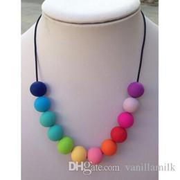 2017 colliers de perles Collier en mousseline de soie en silicone pour bébés Livraison gratuite colliers de perles offres