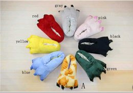 Wholesale New arrivals Variety of animal paw shoes that equiped for animal slippers Adult Stitch slippers for home use