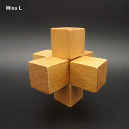 Small Toy Classic Wood Lock, The Elderly Adult Kongming Lock Mind Game Gift Kid Child Teaching Prop Toy