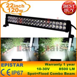 """22"""" Inch 120W LED Light Bar for Work Driving Boat Car Truck 4x4 SUV ATV Off Road Fog Lamp Spot + Wide Flood Combo Beam 12V 24V"""
