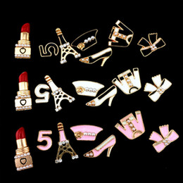 Wholesale-1 Set 7 Pcs Alloy Mobile Phone Stickers DIY Cell Phone Styling Decoration Sticker Phone Decor Stickers Set