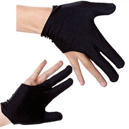 Wholesale 5pairs High Quality Durable Elastic Nylon Fingers Glove for Billiard Snooker Cue Shooter Black