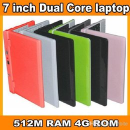 Wholesale cheap dual core inch mini laptop netbook WM8880 G Android DDR3 Mb GHZ WiFi G Multi colors best Christmas kid gift XB07