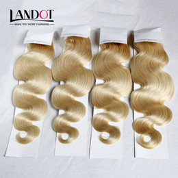 Russian Body Wave Virgin Hair Grade 8A Color #613 Bleach Blonde Human Hair Weaves Bundles Remy Extensions 3 4Pcs Lot 12-30Inch Double Wefts