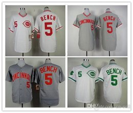 Wholesale 2015 New Cincinnati Reds Jersey Johnny Bench Jerseys Baseball Jerseys All Stitched Size M XXXL From China Can Mix Order