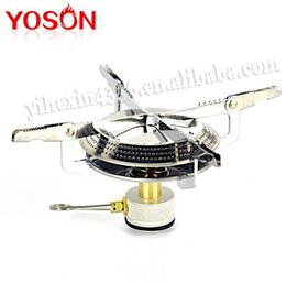 Wholesale 1PC Outdoor Mini Portable Picnic Camping BBQ Gas Butane Propane Stove for Campinbg Outrdoor Traveling