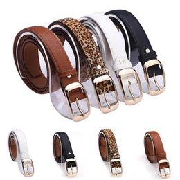Compra Online Cinturones de cuero-Nuevo 2015 mujeres de la manera de la correa diseñador de la marca de las señoras calientes de cuero de imitación hebilla de metal correas Niñas Accesorios de Moda