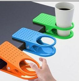 Wholesale Top quality New Arrival Office Table Desk Drink Coffee Cup Holder Clip Drinklip cheap price For christmas