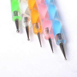 Wholesale-5Pcs Set Two Way Dotting Pen Nail Art Design Paint Painting Tool Dot Set Manicure Painting Kit Design DIY Tools New