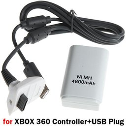 Promotion charge de contrôleur sans fil xbox Batterie rechargeable avec câble de chargement USB pour Microsoft Xbox 360 Wireless Controller 4800mAh