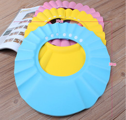Wholesale Baby Kids Shampoo Bath Shower Cap Adjustable Baby Shower Hat Baby Shampoo Cap Wash Hair Shield