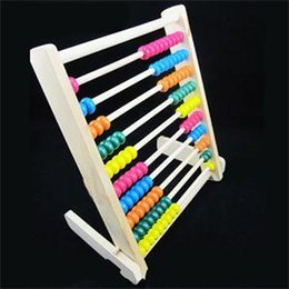 Wholesale 2014 New HE Delicate Large Wooden Wood Beads Abacus Counting Number Maths Toy Educational Childrens Toy EH