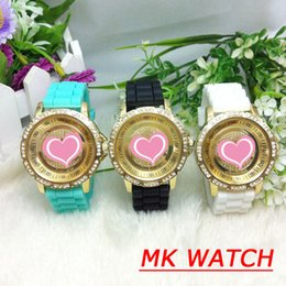 Wholesale 2015 Hot Sale high quality Women Crystal Silicone Watches Rubber Jelly Watches Rhinestones Lady Watches mix different colors