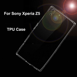 Transparent Clear Soft TPU Phone Case for Sony Xperia Z5 Ultra Thin Crystal Back Shell Cover For SONY Z5 Funda Case