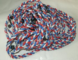 2015 NEW titanium braided 3 ropes necklace tornado SPORTS football baseball new tornado necklace