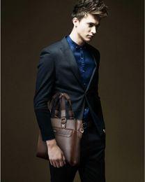 Wholesale Mens Faux Leather Vintage Style Attache Briefcase Messenger Laptop Bags Tote Bussiness Bag Shoulder Messenger Bag