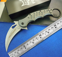 Wholesale Fox Karambit Knife claw flower alloy handle outdoor survival necessary essential folding Knife Cold Steel C Blade