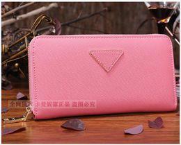 Wholesale genuine leather wallet purse women top quality cowhide fashion brand designer oem logo fancy orginal box sale promotional