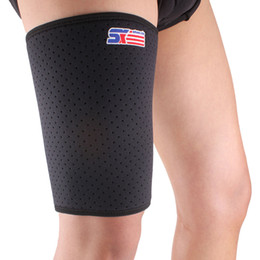 Wholesale Breathable Stretch Thigh Brace Compression Sleeve Support Protector Sports Wrap Leg Bandage Thigh Protection SX650