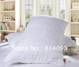 Wholesale Silk Filled Pillow Covers - Wholesale-OEM Bedding Pillow 100% mulberry silk 2kg filling White cotton Cover 90*50cm Size
