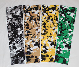NEW green yellow white digital camo arm sleeves baseball Outdoor Sport Stretch Elbow Extended compression sportswear