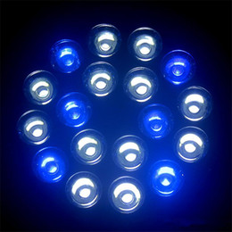 Wholesale E27 W V white blue LED Aquarium Light Bulb For Coral reefs and aquarium fishes Home Indoor Lighting