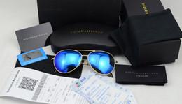 2017 lentes polarizadas Las mujeres de los hombres del aviador de la marca de fábrica VB 2014 las últimas miran las gafas de sol grandes de beckham de victoria polarizadas con la tarjeta de la prueba de la lente, la factura, el paquete del regalo barato lentes polarizadas