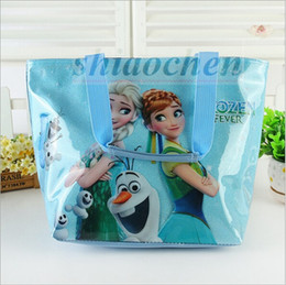 Wholesale Frozen Fever Lunch Bags Sofia Beach Bags Waterproof Cartoon Handbag Picnic Shopping Bag Totes Messenger Bags Shoulder Bag Mummy Bags A75