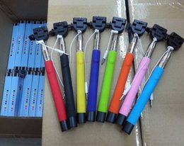 Wholesale Best Selling z07 s Audio cable wired Selfie Stick Extendable Handheld Monopod plug and play Cable Take Pole Wired for iPhone Plus