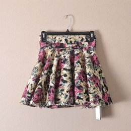 Wholesale Big trade of the original single new winter fluff paste Puff skirt waist lace abstract pattern