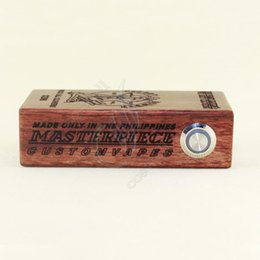 Wholesale Classy wooden Cherry bomber Mechanical box Mod APC wood cherry bomber mod fit with Dual battery for RDA atomizer free drop shiping
