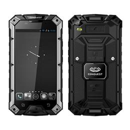 Gb mémoire vidéo à vendre-Conquest S6 5.0 '' HD GSM WCDMA 4G LTE MTK8732 Quad Core Android 4.4 32G mémoire NFC IP68 robuste étanche Téléphone.