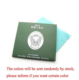 8cm x 8cm Double Sides Cotton Flannels Fabric Jewelry Silver Polishing & Cleaning Cloth with Individual Box