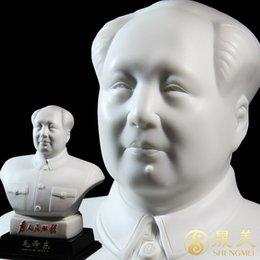 Wholesale Chairman Mao Zedong porcelain figurines bust big bust sculpture head like Dehua porcelain ceramic Home Decoration