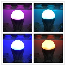 Wholesale DHL Fedex EMS G Milight Group Division E27 W RGBW Aluminum Bulbs RGB White or RGB Warm White