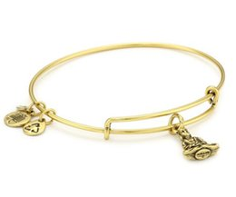 Wholesale Alex and Ani Buddha Expandable Wire Positive energy meaning extension pure copper Bangle