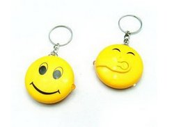 LED Smiling Face Keychain Smiling Keychain Plastic keyring for Kids LED Light Smiling Face Money Check Key Chain 1000PCS DHL Free
